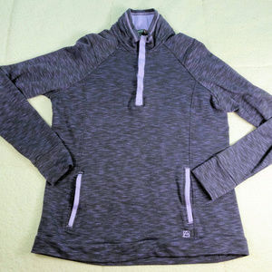 Avalanche Gray L/S Qtr Zip Pullover X-Large